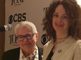 """Playwright Paula Vogel and director Rebecca Taichman of Indecent. Paula Vogel: """"Per inch on stage, there's so much love. Rebecca came to me with this amazing gift. 'Do you know this play?' We had both read the play in our twenties, 20 years apart... Taichman: """"My idea was just 1923. Paul thought out this epic masterpiece."""" Vogel: """"She turned over to me boxes of her research. I did draft after draft. The woman is an extraordinary editor. .When Rebecca goes 'Oh that's good,' you go back to your room and stay up all night to make it better..There are these mythic collaborations you read about in the American theater..It's very hard to tell where one voice ends and the other begins...I don't think it comes along very often that you share a sensibility like this. We're starting to get to the pitch"""" of another collaboration."""