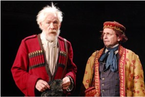 """Ian McKellen as King Lear and Sylvester McCoy as Lear's Fool in the Royal Shakespeare Company production of """"King Lear"""" during BAM Fall Series, 2007]"""