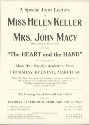 Helen Keller lecture 1913