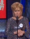 Bette Midler accepting her Tony as Best Actress in a musical, in a speech that rambled on for more than four minutes.