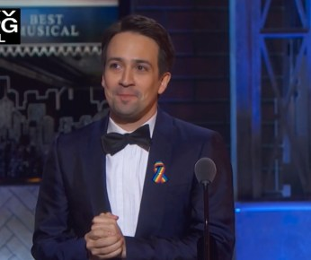 Lin-Manuel Miranda, presenter for best musical