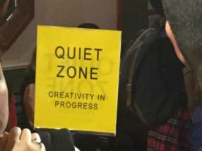 sign in rehearsal studio for New York Musical Festival shows.