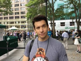 Andy Karl before the Broadway at Bryant Park concert