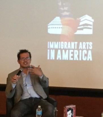 John Leguizamo answering questions after keynote speech