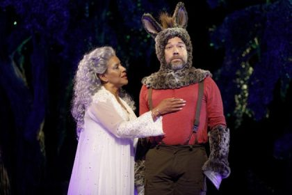 Phylicia Rashad as Titania and Danny Burstein as Nick Bottom