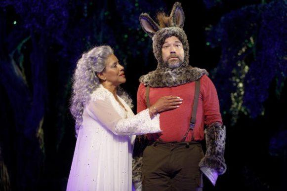 Phylicia Rashad as Titania and Danny Burstein as Nick Bottom