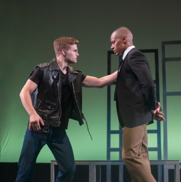 John Lewis (Anthony Chatmon II ) being attacked by a thug (Mike Nigro)