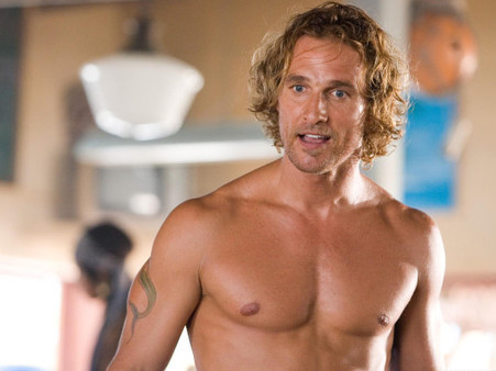 Mathew McConaughey shirtless