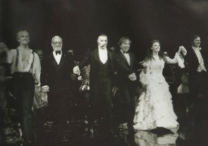 """""""January 26, 1988, Majestic Theatre. Opening night bow, Phantom of the Opera. (Hope it runs!) (Author's collection)"""""""