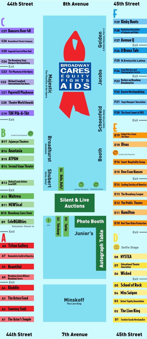 2017 Broadway Flea Map