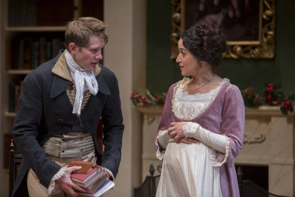 Miss Bennet Christmas at Pamberley with Erik Hellman and Aila Peck, Northlight Theatre production