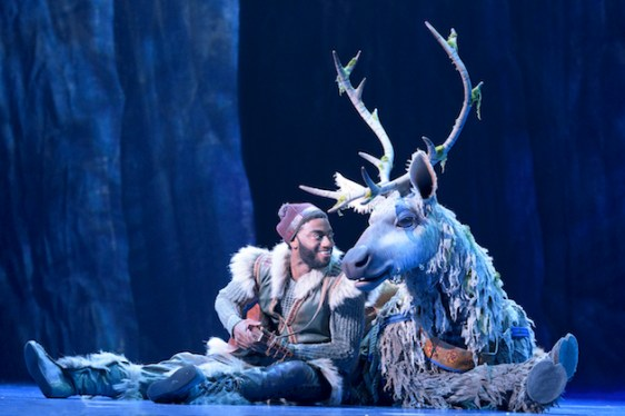 Jelani Alladin as Kristoff and Andrew Pirozzi as Sven