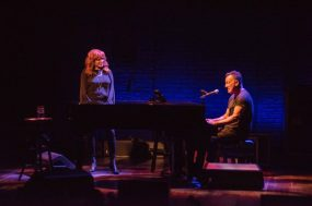 Springsteen with wife Patti Scialfa, with whom he sang two songs