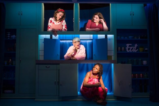 Eden Malyn, Lauren Ann Brickman, Lisa Lampanelli and Marsha Stephanie Blake in STUFFED - photo by Jeremy Daniel