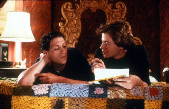 The 1988 film Torch Song Trilogy with Harvey Fierstein as Arnold, and Matthew Broderick as Alan, Arnold's lover (Broderick originally portrayed David, Arnold's adopted son, in the production Off-Broadway)