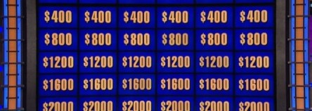 Jeopardy board