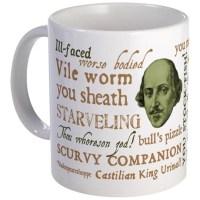 Shakespeare insult mug