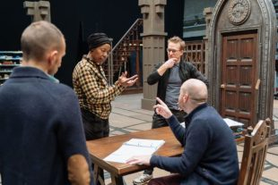 Actors Noma Dumezweni and Jamie Parker in conversation with John Tiffany