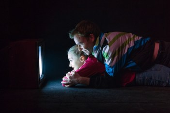 Evanna Lynch and Colin Campbell in Disco Pigs at Irish Rep