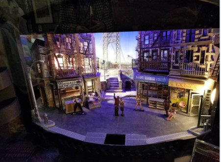 """A model of the original set of In The Heights,"""" on display at BroadwayCon 2018"""