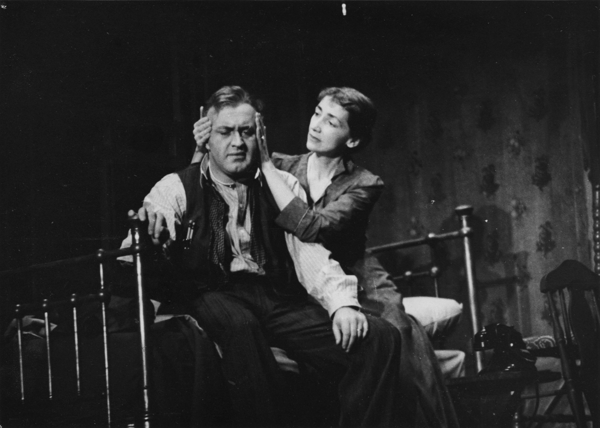 Lee J. Cobb as Willy and Mildred Dunnock as Linda in the original production of Death of a Salesman], 1949.