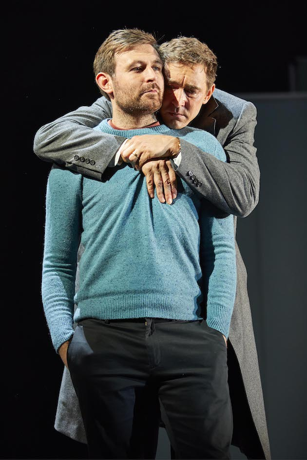 James McArdle as Lou the leftist Jew and Lee Pace as Joe the Mormon Republican in Angels in America