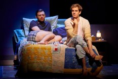 James McArdle as Joe and Andrew Garfield as his ex lover Prior