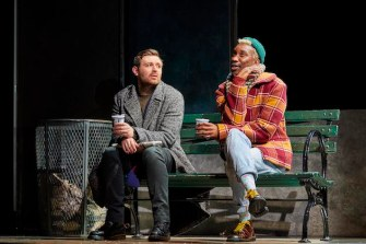 James McArdle as Lou and Nathan Stewart-Jarrett as Belize in one of their many disagreements.