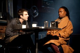 Zachary Quinto as Louis and Billy Porter as Belize in Signature Theatre Angels in America Millenium Approaches in 2010