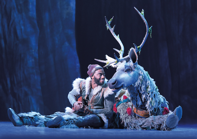 Frozen 6 Jelani Alladin (Kristoff) and Andrew Pirozzi (Sven) in FROZEN on Broadway. Photo by Deen van Meer
