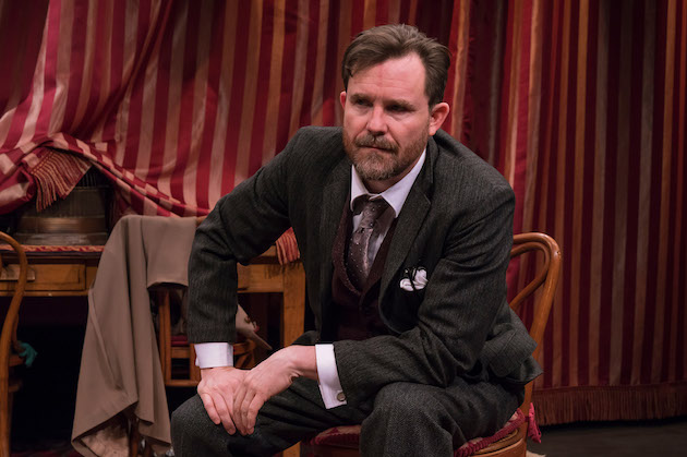 Eric Tucker as Henry Higgins (also director and sound designer) in Bedlam's Pygmalion