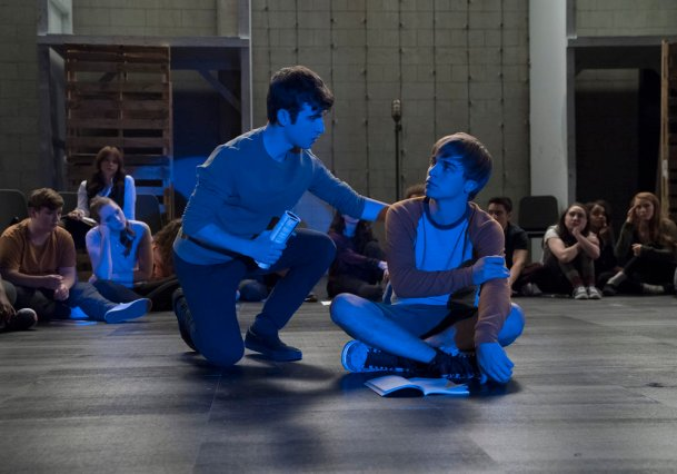 "RISE -- ""Most of All to Dream"" Episode 102 -- Pictured: (l-r) Ted Sutherland as Simon Saunders, Sean Grandillo as Jeremy -- (Photo by: Virginia Sherwood/NBC)"