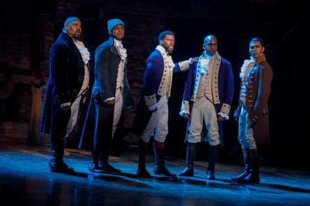 James Monroe Iglehart, J Qinton Johnson, Michael Luwoye, Daniel Braker and Anthony Lee Medina
