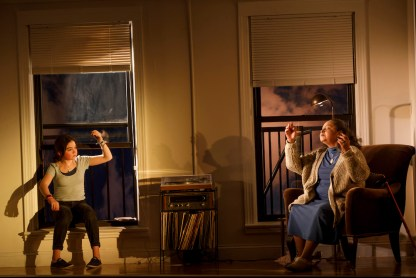 Ella Kennedy Davis as Julie, and Lynda Gravátt as the upstairs neighbor Cloris