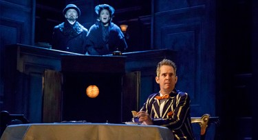 "Dan Butler, Opal Alladin and Tom Hollander in ""Travesties"""