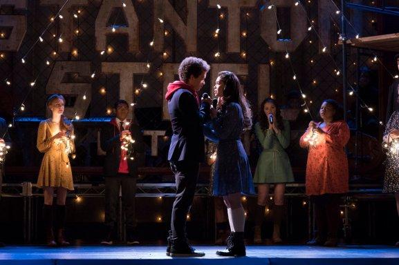 "RISE -- ""Opening Night"" Episode 110 -- Pictured: (l-r) Damon J. Gillespie as Robbie Thorne, Auli'i Cravalho as Lilette Suarez -- (Photo by: Virginia Sherwood/NBC)"