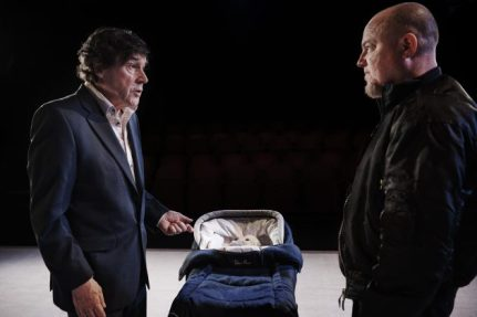 Steven Rea and Chris Corrigan as the terrorist