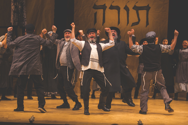 "Steven Skybell as Tevya and Ensemble sing ""Tradition"" (""Traditsye"" טראַדיציע)"