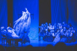 : Mary Illes, Steven Skybell, Jodi Snyder and Ensemble in The Dream