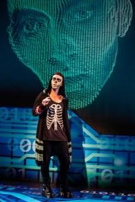 """Emojiland"" the Musical. Jordon Bolden as Skull. Photo: Jeremy Daniel."