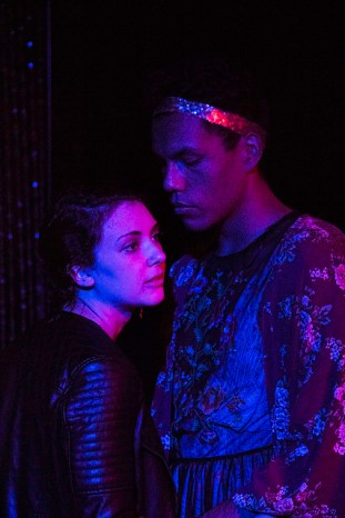 Allison Benko as Romeo, Esaú Mora as Juliet