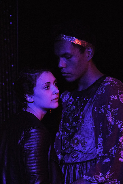 Allison Benko as Romeo, Esaú Mora as Juliet