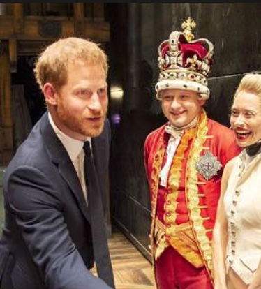 Prince Harry with King George