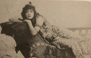 The actual Sarah Bernhardt as Cleopatra 1890