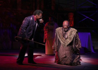 Gospel at Colonus: Jay Caldwell as Creon and the Rev. Dr. Earl Miller as The Messenger