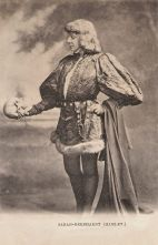 the real Sarah Bernhardt as Hamlet