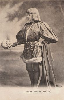 Sarah Bernhardt as Hamlet. She performed the role in 1900 at the Garden Theatre.