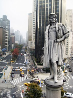 Christopher Columbus atop Columbus Circle