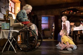 Fionnula Flanagan (Aunt Maggie Far Away), Matilda Lawler (Honor Carney – sitting on the floor), and Brooklyn Shuck (Nunu (Nuala) Carney)