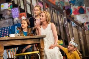 Willow McCarthy (Mercy Carney), Brooklyn Shuck (Nunu (Nuala) Carney), Genevieve O'Reilly (Mary Carney), and Matilda Lawler (Honor Carney)